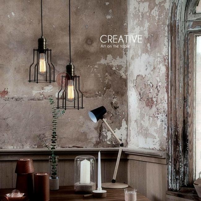 Historické závesné svietidlo s modernou klietkou3 - Historické závesné svietidlo s modernou klietkou