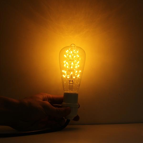 LED diódy generujú menej tepla čo je dôvod prečo sú tak účinné na dlhodobé používanie3 - FIREWORKS žiarovka - TEARDROP - E27, 3W, 200lm
