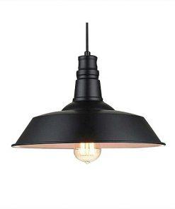 Moderné závesné svietidlo v čiernej farbe