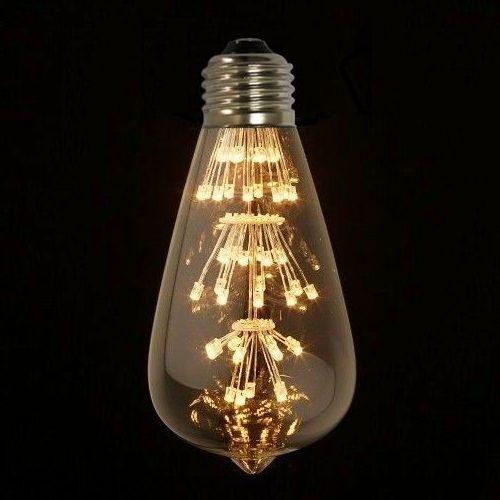 Tento nový typ žiarovky spája historický vzhľad s novou formou LED technológie4 - FIREWORKS žiarovka - TEARDROP - E27, 3W, 200lm
