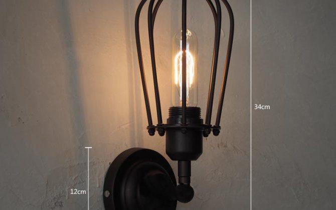Tento typ historického nástenného svietidla je inšpirovaný starodávnou klietkou2 670x420 - Historické nástenné svietidlo s okrúhlou klietkou