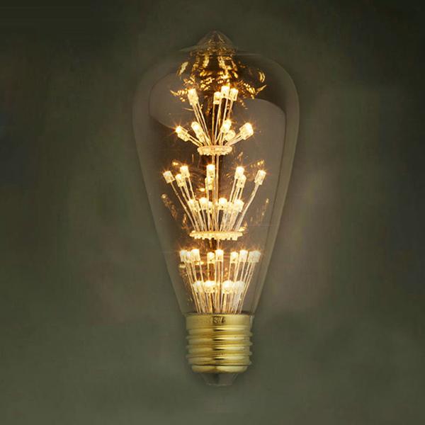 Tvarované sklo žiarovky má vzhľad tradičných EDISON žiaroviek a hodí sa ako dekoračné osvetlenie do každej domácnosti2 - FIREWORKS žiarovka - TEARDROP - E27, 3W, 200lm