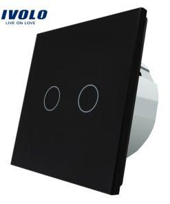 Elegantný dotykový vypínač roliet, žalúzií a markíz v čiernom prevedení