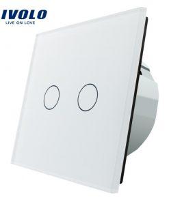 Elegantný dotykový vypínač roliet, žalúzií a markíz v bielom prevedení