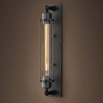 Historické rovné nástenné svietidlo s mriežkou3 - Historické rovné nástenné svietidlo s mriežkou