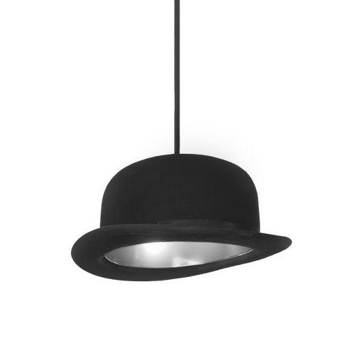 Kreatívne závesné svietidlo Jeeves v striebornej farbe na žiarovky typu E27 je svietidlo určené na strop v kreatívnom vzhľade historického klobúka12 - Kreatívne závesné svietidlo Jeeves v striebornej farbe