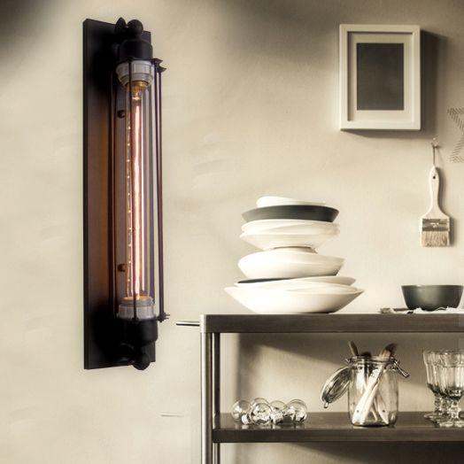 Svietidlo je vhodné do obývacej izby kuchyne jedálne spálne reštaurácie a pod6 - Historické rovné nástenné svietidlo s mriežkou