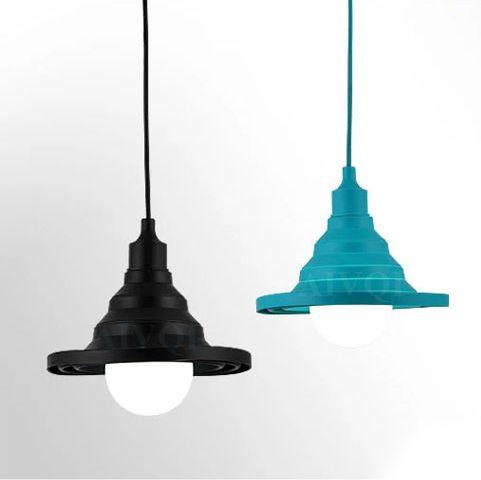 Toto svietidlo má moderný dizajn so živou povrchovou úpravou2 - Moderný závesný silikónový luster s textilnou šnúrou v červenej farbe