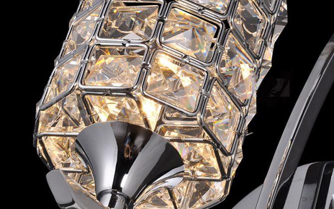 Moderné nástenné svietidlo www.ziarovky.eu 2 670x420 - Moderné nástenné svietidlo v luxusnom dizajne v striebornej farbe