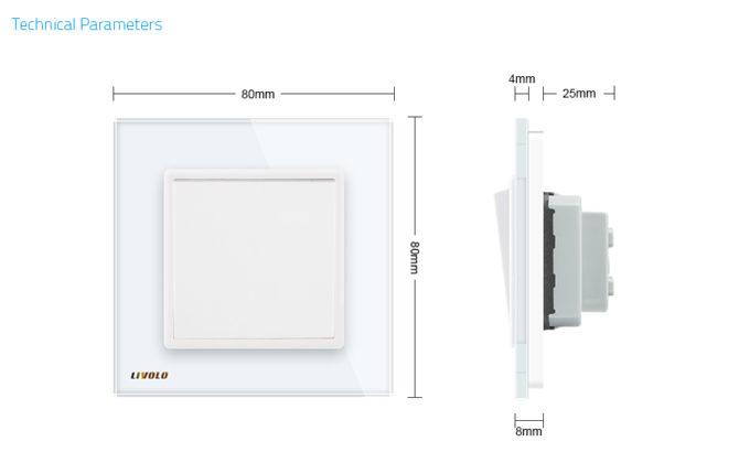 Vypínače sa vyznačujú dlhou životnosťou otrasuvzdornosťou farebnou stálosťou pevnosťou povrchových úprav a lesklosťou skleneného povrchu 1 670x420 - Luxusný mechanický vypínač č.1 v bielom prevedení
