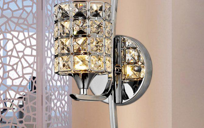 nástenné kovové svietidlá Nástenné svietidlá Nástenné svietidlá v modernom vzhľade1 670x420 - Moderné nástenné svietidlo v luxusnom dizajne v striebornej farbe
