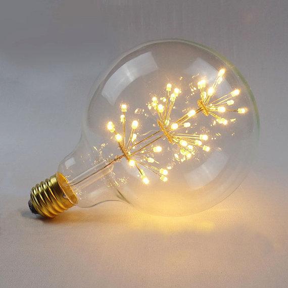Vďaka svojej dekoračnej žiare vyžaruje rustikálne kúzlo ako žiadna iná žiarovka2 - FIREWORKS žiarovka - SPHERE - E27, 3W, 200lm