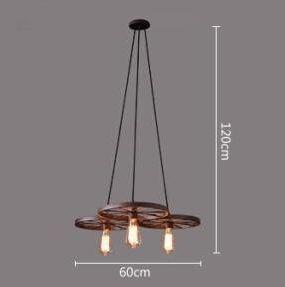 Historické závesné svietidlo Koleso v priemyselnom štýle tri pätice 2 - Historické závesné svietidlo Koleso v priemyselnom štýle, tri pätice