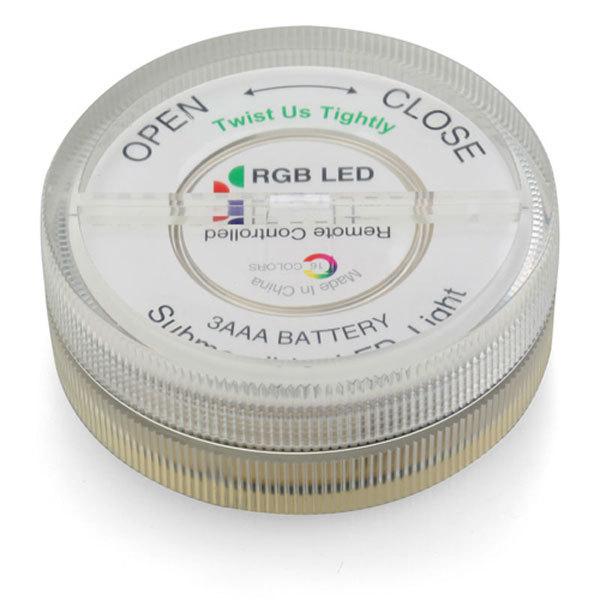 Podstavec napájajú 3AAA batérie vďaka ktorým je prenosný - Vodotesný LED podstavec s diaľkovým ovládaním
