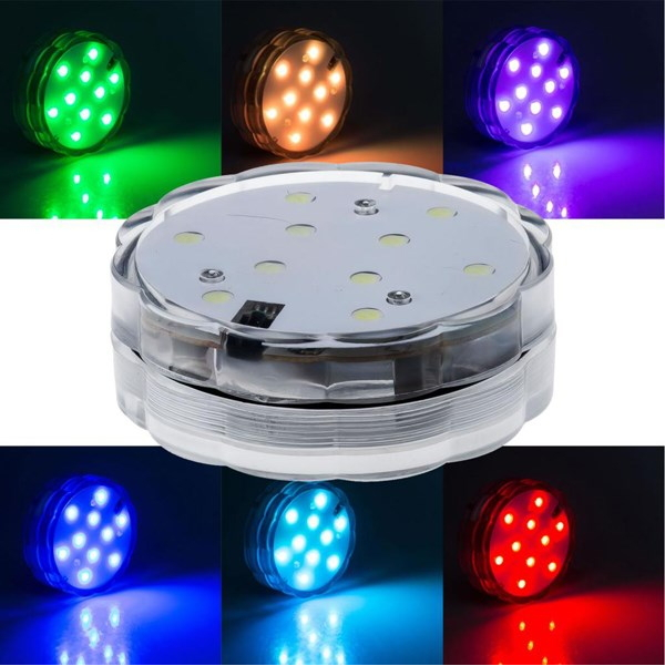 Súčasťou podstavca je 24 funkciový diaľkový ovládač ktorý ponúka 16 rôznych farebných odtieňov prevedení osvetlenia 4 funkcie efektov - Vodotesný LED podstavec s diaľkovým ovládaním