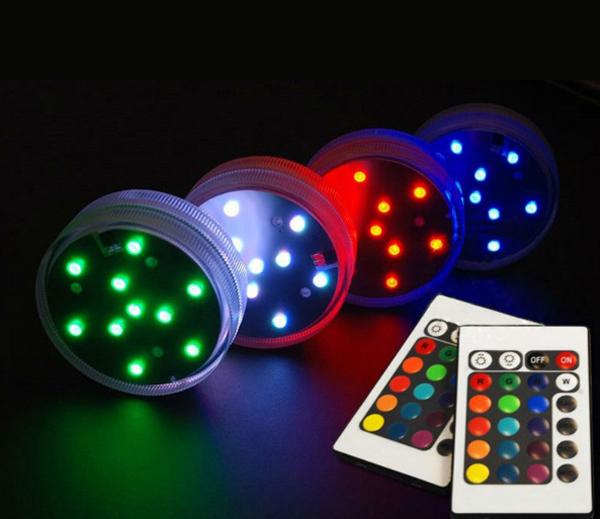 SMD LED diódy poskytujú profesionálne osvetlenie v podobe jasného osvetlenia - Vodotesný LED podstavec s diaľkovým ovládaním