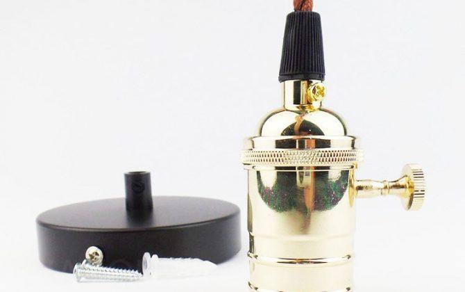 Závesné kovové svietidlo v retro dizajne so spínačom v zlatej farbe 670x420 - Závesné kovové svietidlo v retro dizajne so spínačom v zlatej farbe