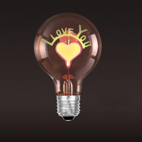 Dekoračná žiarovka SHINES Love You - Dekoračná žiarovka - SHINES - Love You