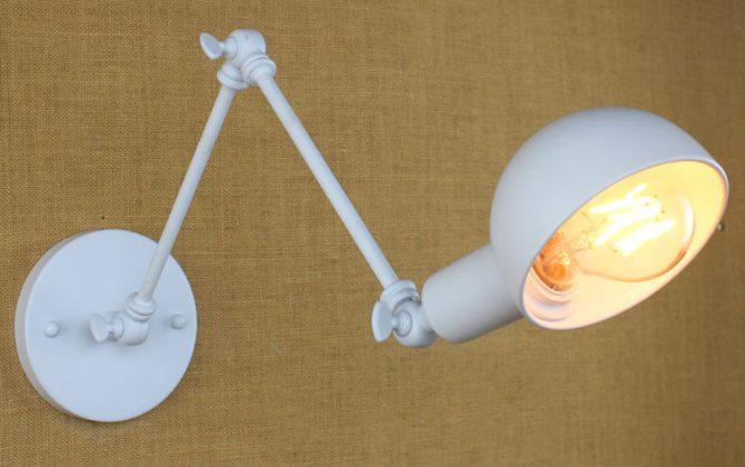 Historické nástenné svietidlo Bedside s nastaviteľným ramenom v bielej farbe je luxusné svietidlo v historickom štýle1 670x420 - Historické nástenné svietidlo Bedside s nastaviteľným ramenom v bielej farbe