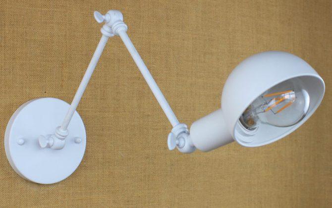 Historické nástenné svietidlo Bedside s nastaviteľným ramenom v bielej farbe je luxusné svietidlo v historickom štýle3 670x420 - Historické nástenné svietidlo Bedside s nastaviteľným ramenom v bielej farbe