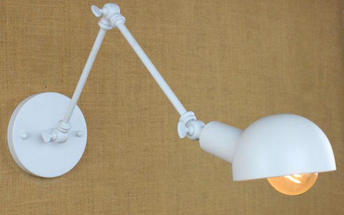 Historické nástenné svietidlo Bedside s nastaviteľným ramenom v bielej farbe je luxusné svietidlo v historickom štýle4 670x420 - Historické nástenné svietidlo Bedside s nastaviteľným ramenom v bielej farbe