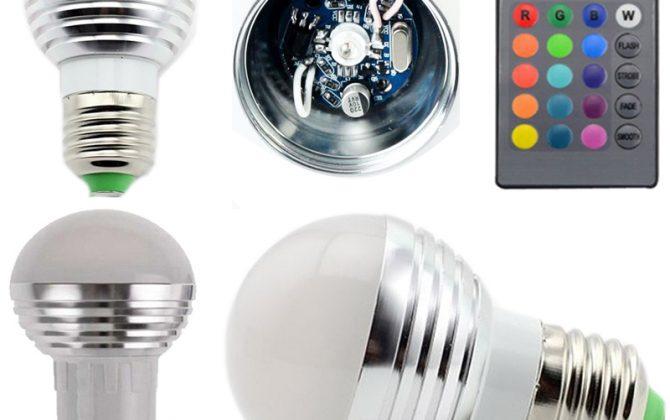 LED RGB žiarovka na diaľkové ovládanie 16 funkcií 5W2 670x420 - LED RGB žiarovka na diaľkové ovládanie, 16 funkcií, 5W