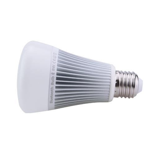 RGB LED žiarovka s bezdrôtovým reproduktorom 8W 550lm23 - RGB LED žiarovka s efektami, 8W, 550lm