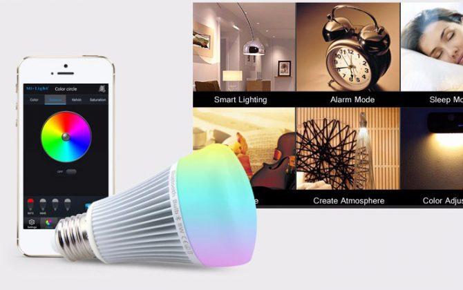 RGB LED žiarovka s bezdrôtovým reproduktorom 8W 550lm30 670x420 - RGB LED žiarovka s efektami, 8W, 550lm