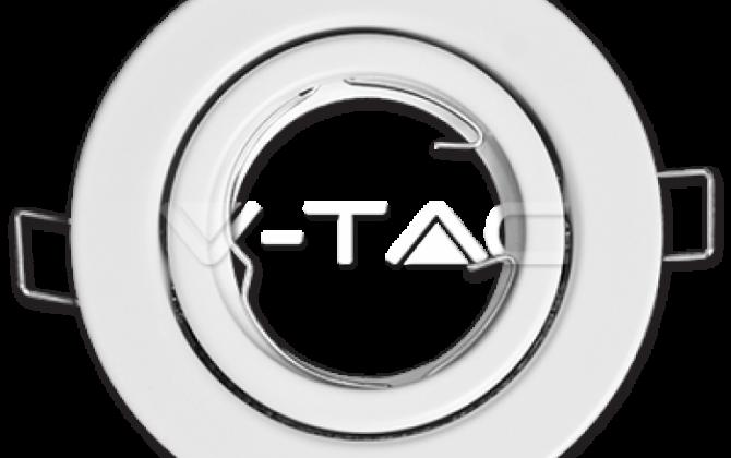 Rámik okrúhly výklopný biely V TAC 670x420 - Rámik okrúhly výklopný biely, V-TAC