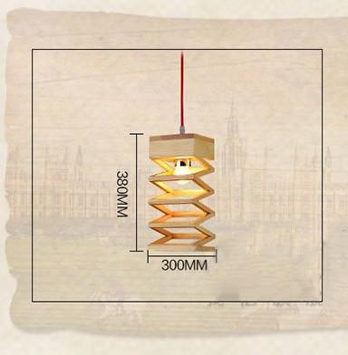 Závesné kreatívne drevené svietidlo LAMPARA2 - Závesné kreatívne drevené svietidlo - LAMPARA