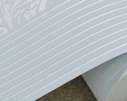 Vzorovaná textilná reliéfna tapeta na stenu v modrej farbe