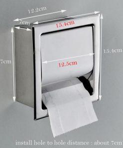 Vstavaný držiak na toaletný papier s chrómovým povrchom