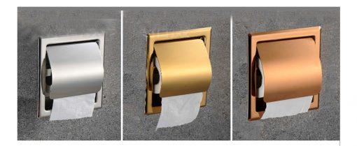 Vstavaný držiak na toaletný papier s rôznymi povrchmi