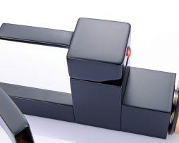 Dizajnová drezová a umývadlová batéria v čiernej farbe