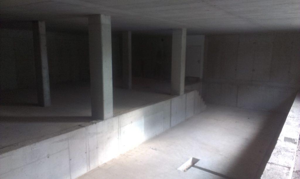 Realizácia interiéru - Bazénová hala, fitness a wellness, priestor pred začiatkom realizácie