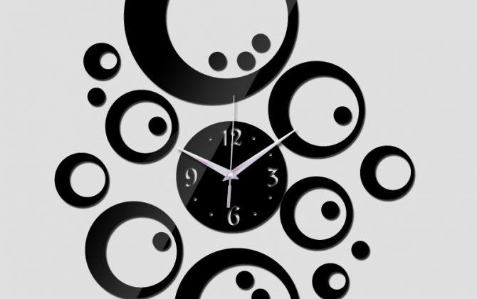 Moderné samolepiace nástenné hodiny Bubbles