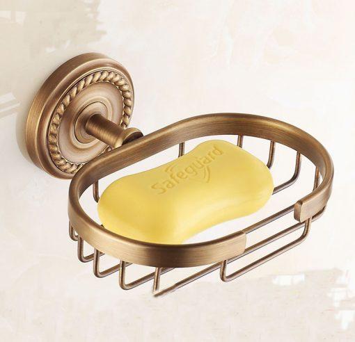 Mosadzný retro držiak na mydlo