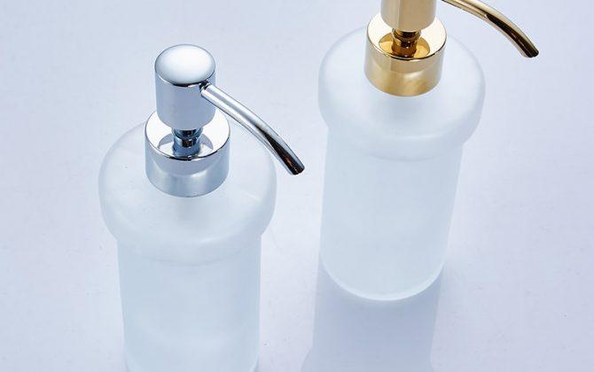 Dávkovač mydla 3 670x420 - Retro mosadzný dávkovač mydla s kryštáľom v rôznych farbách