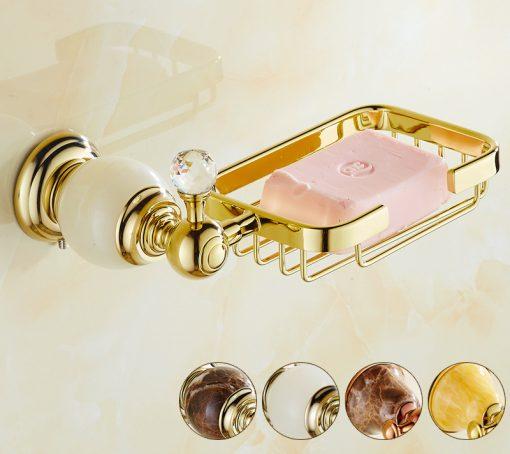 Mosadzný vintage držiak na mydlo v rôznych prevedeniach
