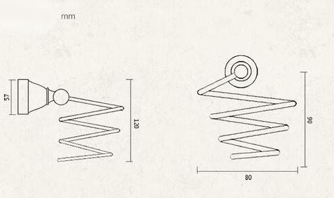 Mosadzný vintage stojan na fén v rôznych prevedeniach