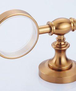 Hliníkový držiak na mydlo v zlatej farbe