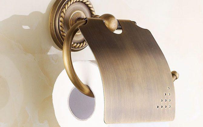 Držiak na toaletný papier + stojan na mobilný telefón