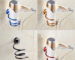 Moderný hliníkový stojan na fén v rôznych farbách