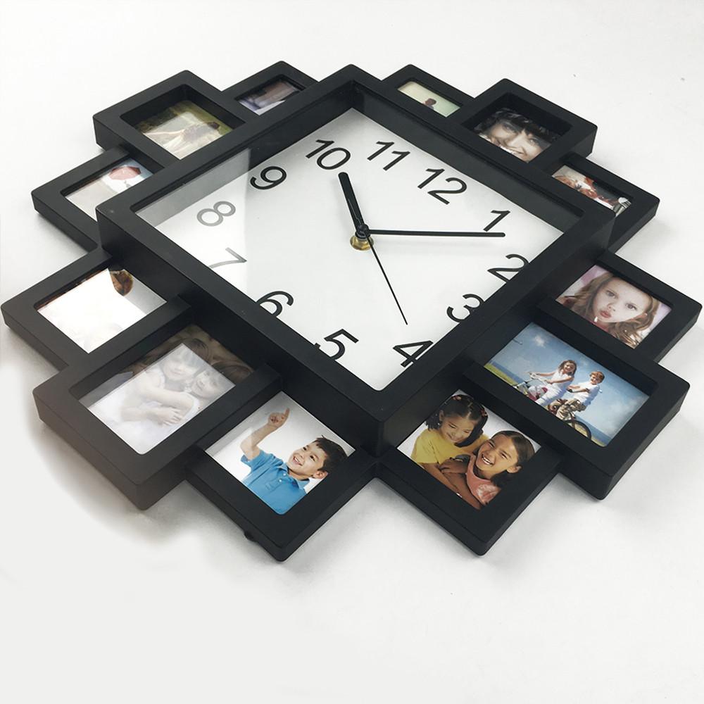 b1b945b22 Moderné nástenné hodiny s foto-rámikmi