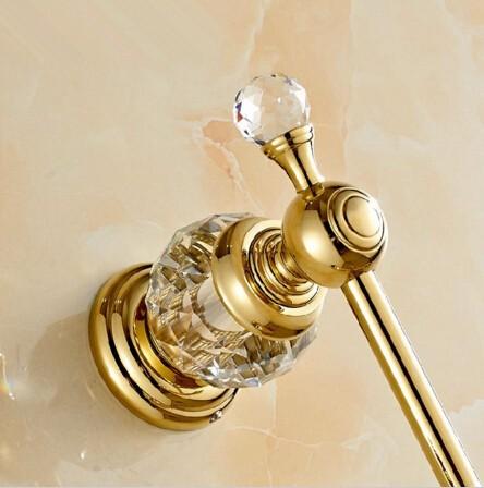 Moderný mosadzný vešiak do kúpeľne 3 - Retro mosadzný vešiak s kryštáľom do kúpeľne v rôznych farbách