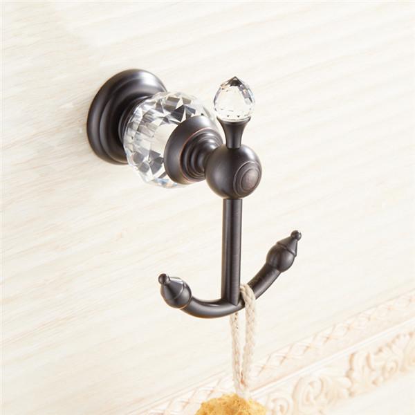 Moderný mosadzný vešiak do kúpeľne 4 - Retro mosadzný vešiak s kryštáľom do kúpeľne v rôznych farbách