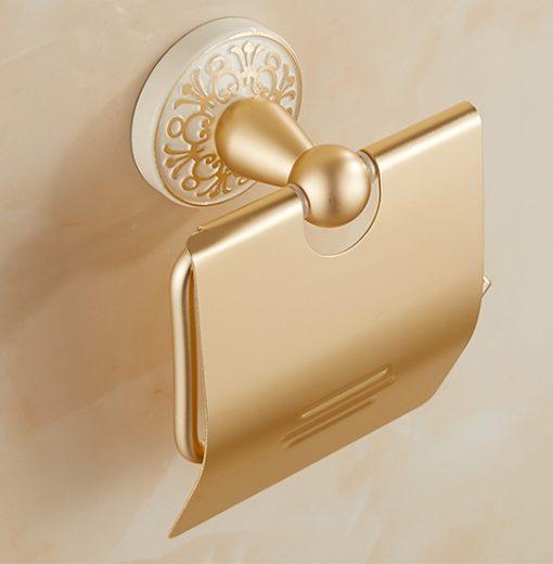 Mosadzný vintage držiak na toaletný papier v rôznych prevedeniach