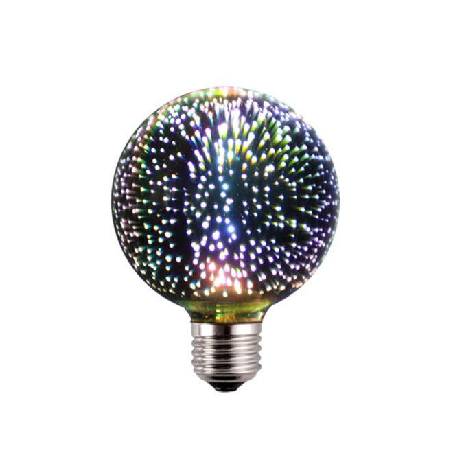 3D FIREWORKS LED Dekoratívna žiarovka Globus E27 5W 100lm - 3D FIREWORKS, LED Dekoratívna žiarovka - Globus, E27, 5W, 100lm
