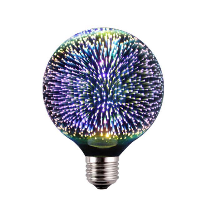 3D FIREWORKS LED Dekoratívna žiarovka Sphere E27 5W 100lm - 3D FIREWORKS, LED Dekoratívna žiarovka - Sphere, E27, 5W, 100lm