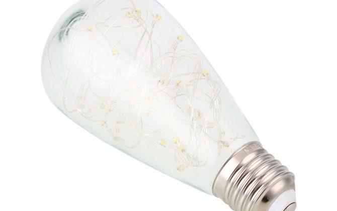 Dekoračná LED žiarovka EDISON je moderný typ LED žiarovky z historickej kolekcie EDISON žiaroviek 670x420 - Dekoračná LED žiarovka EDISON, E27, 150lm, Teardrop, Modrá